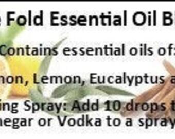 Five Fold Organic Essential Oil Blend, Clove, Lemon, Cinnamon, Eucalyptus, Rosaemary