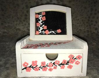 Pink cherry blossom jewelry box