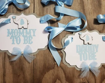 Elephant Theme Mommy to be chair sign-Mommy to be chair sign-Mom to be chair sign-Custom Mommy to be chair sign-Elephant daddy to be sign