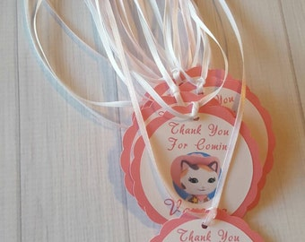 Sheriff Callie Theme Birthday Favor Tags-Sheriff Callie Favor Tags-Sheriff Callie Party Decoration-Sheriff Callie-Set of 10-Personalized
