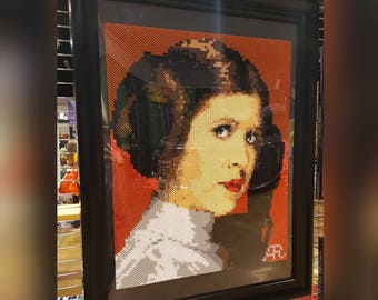 Princess Leia Beaded Portrait