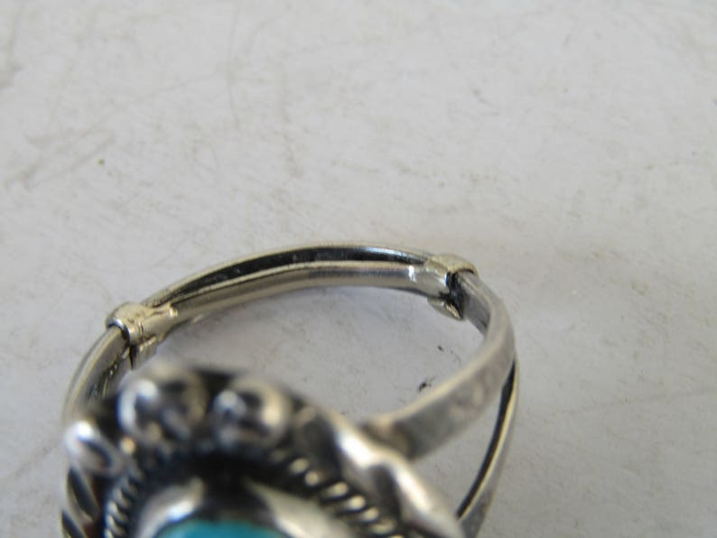 Sterling Turquoise Ring Sz.5 12