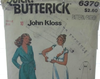 PATTERN BUTTERICK 6370 John Kloss / woman size: 10 VINTAGE