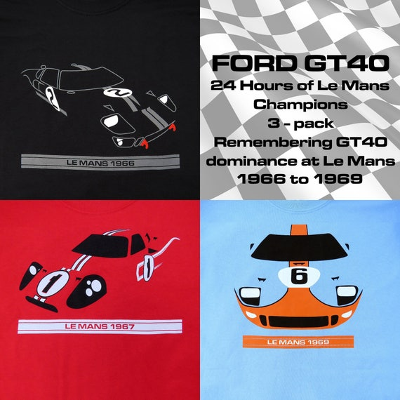 Ford GT40 3-pack 24 Hours of Le Mans Champions T-Shirts 0jWGEsko