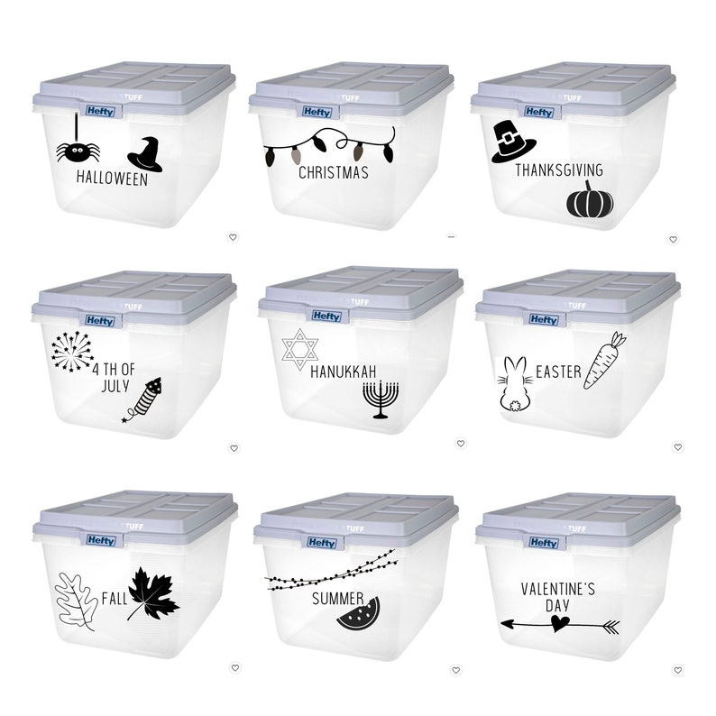 Custom Storage Tub Labels with pictures & words   FREE image 0