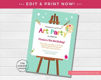 Birthday Invitation Template Etsy
