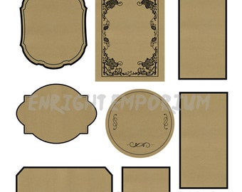 Blank Apothecary Labels Digital Download