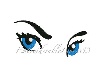 Eyes Embroidery Design All Formats Fits 4inx4in hoops