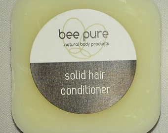 SOLID Hair conditioner Vegan x 1 convenient travel size BAR pure & natural handmade 30g Silicone Free