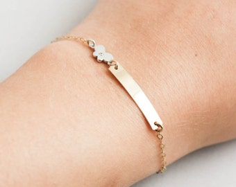 f8e10116f61 Gold Baby Bracelet Custom
