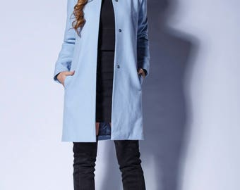 2bcf894d6c4d2 Light Blue Women Jacket