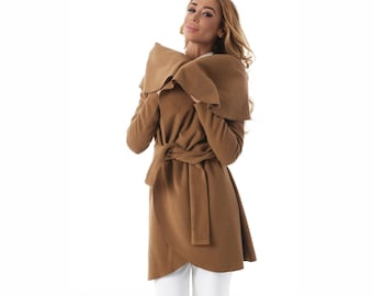 defafa7a814 Plus size cape coat