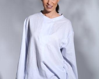 05bf33c2903 Oversized linen top