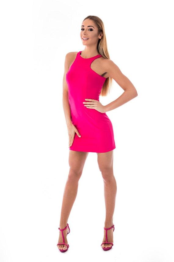 Sexy Kleid Sommerkleid Sexy Mini Kleid Fuchsia Kleid Tank   Etsy 02eb8c49f4