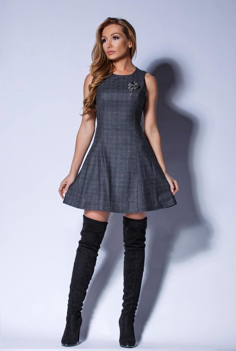 10a5e08a68 Mini abito, vestito grigio, inverno vestito, vestito aderente, Tubino,  abito moda, Party Dress, Boho Abito, Abito, maglia di lana sottile Fine