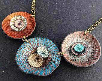Necklace wierd flowers