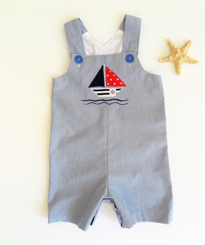 0dac2dfddde4 Baby boy clothes Baby Short overalls Baby beachwear Sail   Etsy