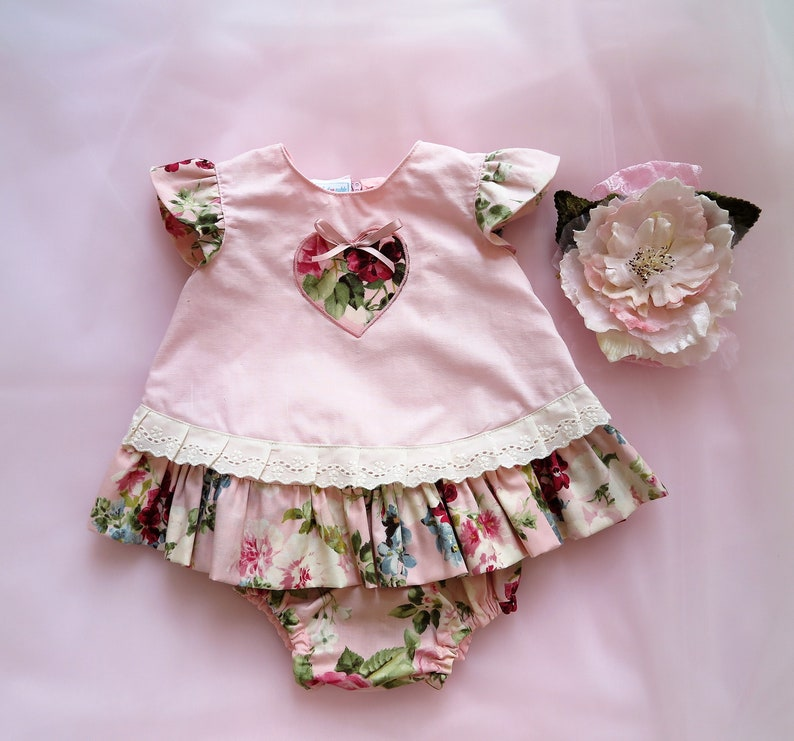 d140bef30 Baby girl clothes Baby girl dress Frilled toddler pale