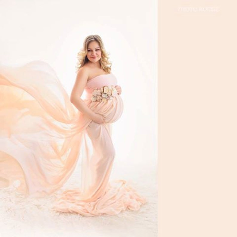 19f2547f906 Maternity Dress GRACE   Maternity Gown Extra Long With Two
