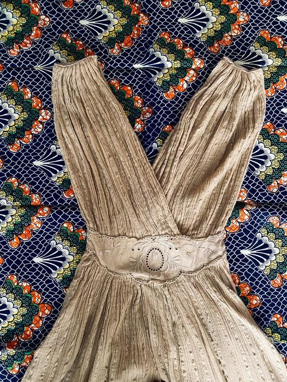 Vintage 70s/80s Grecian Goddess Cotton Gauze Dress