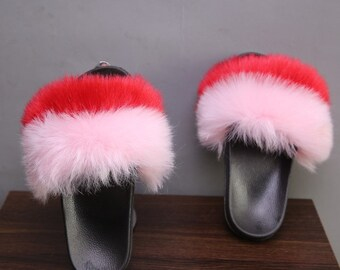 98b47dca3ed Faux Fur Slides