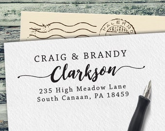 Custom Rubber Stamp - Personalized Address Stamp - Custom Stamp - Self Inking Address Stamp - Personalized Return Address Stamp - RA101