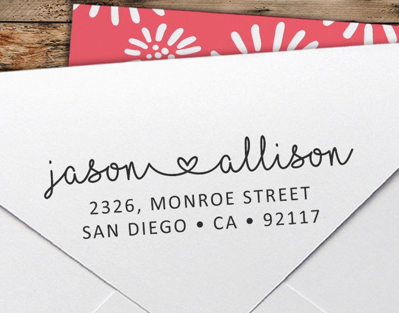 Custom Stamp  Personalized Return Address Stamp  Wedding image 0