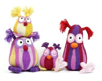 Owl Family Shuhuu / knitting pattern