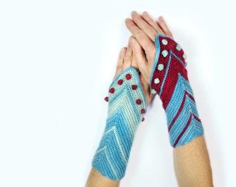wrist warmers / cuffs HAMBURG AHOI knitting pattern