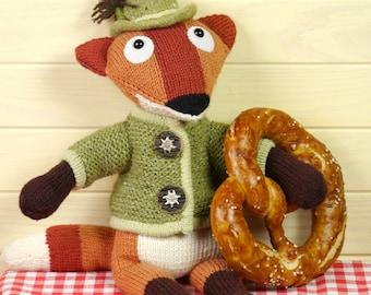 XAVER THE FOX Knitting Pattern
