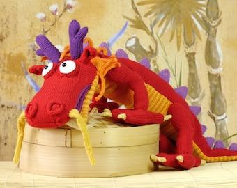 Lucky Chinese Dragon LONG-LONG (knitting pattern)