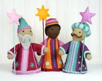 Three Wise Men / Holy Kings knitting pattern
