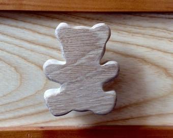 Drawer knob or peg wooden Teddy theme