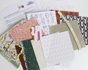Papercraft Kit (includes sequin waste and embellishments)