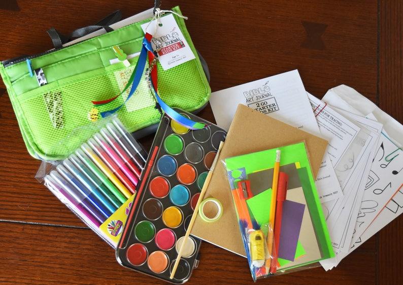 2 Go Kids Aged 5 Starter Bible Art Journaling Kit image 0