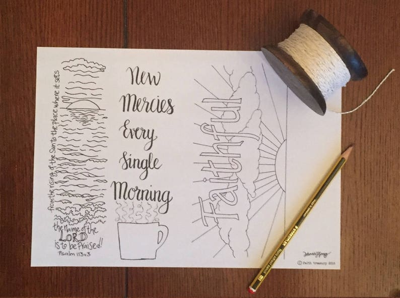 Bible Journal New Mercies Every Morning Printable image 0