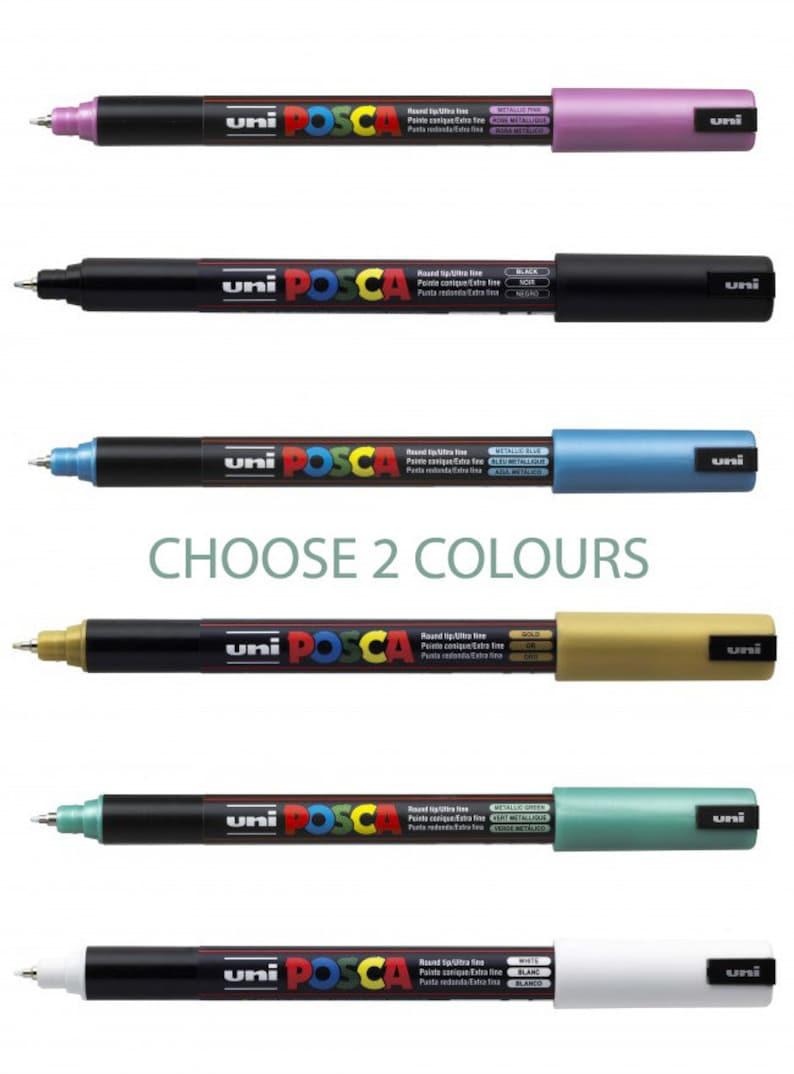 2 POSCA Pens Ultra Fine Bullet Tip PC-1MR Various Colour image 0