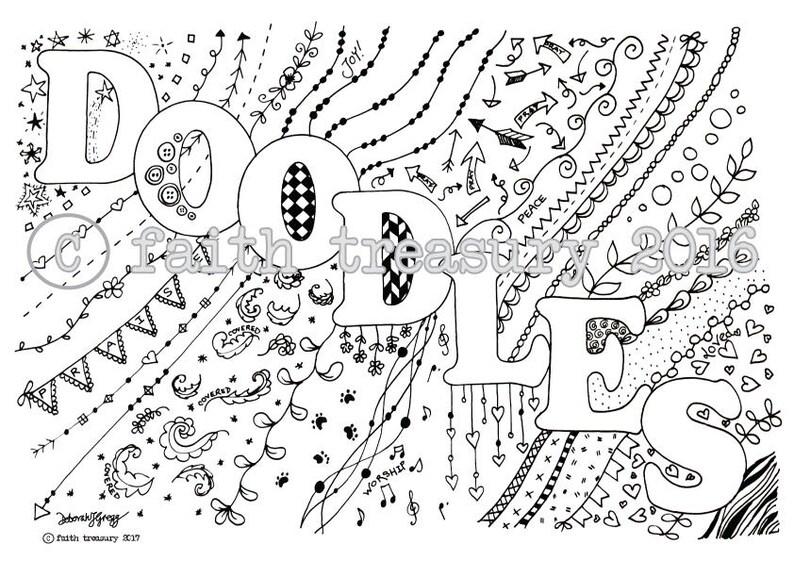 Doodling Bundle for Bible Art Journaling image 0