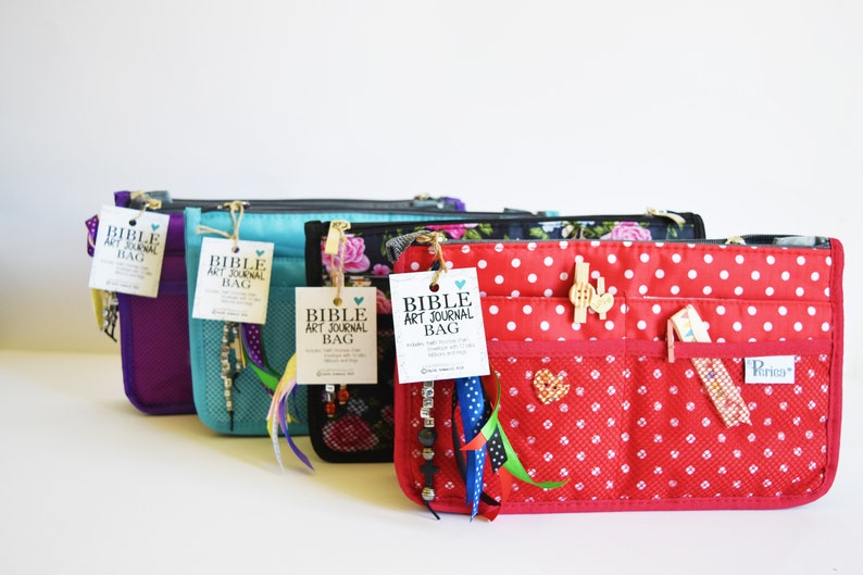 Bible Art Journaling Bag  various styles and colours image 0