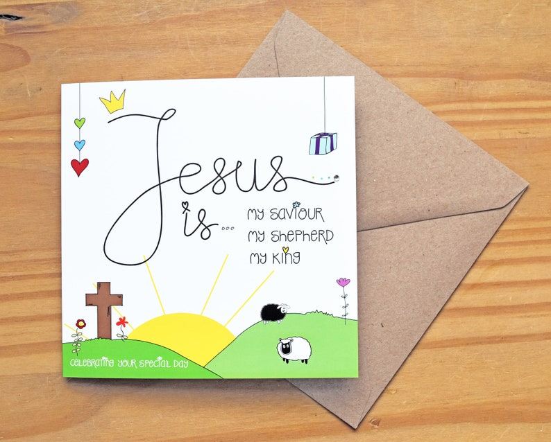 Jesus Is  Baptism or Occasion Card by Spoken Treasures image 0