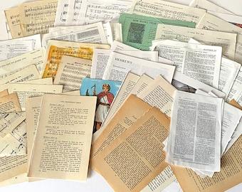 Christian Junk Journaling Ephemera, Collage, Bible Art, bible journaling BuJo Paper Pack. Includes Music, Commentary, Scripture, Literature.