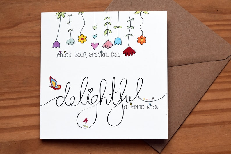 Delightful  Occasion or Birthday Card by Spoken Treasures image 0