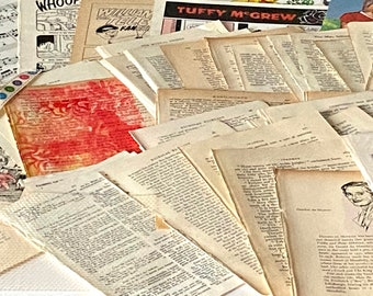 Literature Junk Journaling Ephemera Pack. Includes Poetry, Children & classic novels, comics, for Collage, junk journaling.