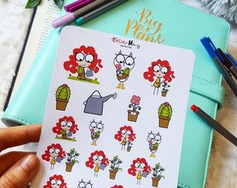 Chloe & Henry Gardening  Planner Sticker