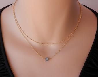 dainty labradorite necklace gold natural labradorite pendant blue flash rainbow labradorite genuine labradorite jewelry labradorite choker