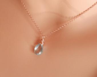 Sky blue topaz necklace November birthstone necklace blue topaz necklace blue topaz pendant blue topaz jewelry december birthstone jewelry
