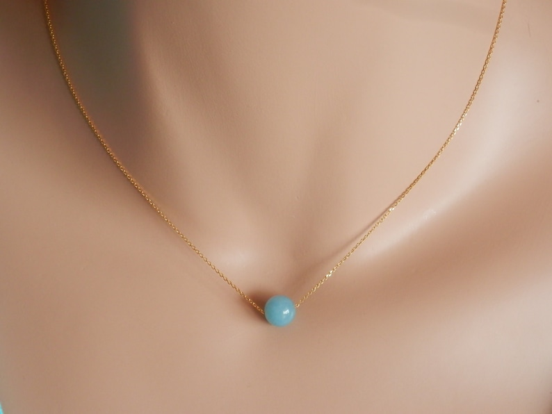 aquamarine Jewelry Personalized aquamarine necklace gold initial aquamarine necklace March Birthstone Necklace Custom Initial Necklace