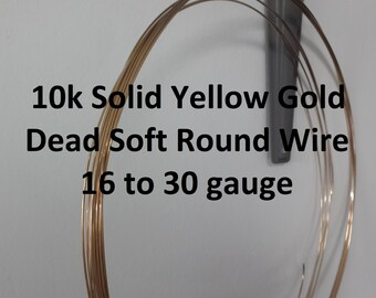 22k solid gold wire   Etsy