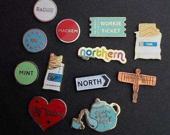 NORTHERN enamel pins - Slight Seconds - choose 6 pins - BARGAIN!