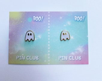Tiny ghost duo!  Lapel pins or one to share